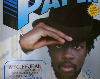 Paper magazine mens style fashion nineties fashion collections 1997 Wyclef Jean
