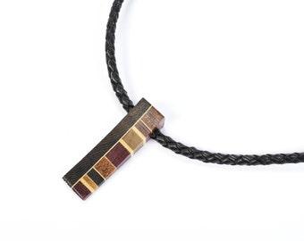 men necklace / wooden jewelry / handmade / men / isabelle ferland  / unique