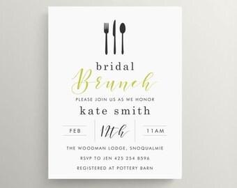 utensils bridal shower invitation // engagement party invitation // baby shower // birthday // thank you note // elegant // brunch // dinner