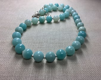 Amazonite Necklace in Sterling Silver