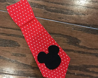 Mickey Tie Iron On, You Choose Fabric