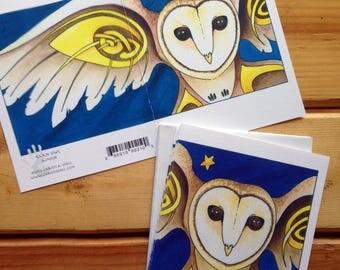 6 Barn Owl blank cards