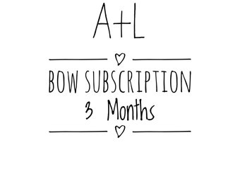 3 Month Bow Subscription- Set of 3 Headbands or Hair Clips Each Month- FREE SHIPPING