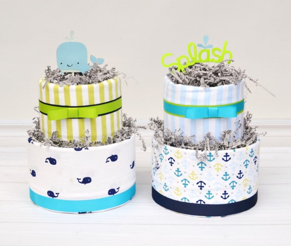 Nautical Baby Shower Centerpieces, Nautical Diaper Cakes, Ahoy It's A Boy Baby Shower, Whale Baby Shower, Ahoy Shower, Natuical Decorations