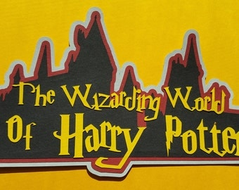 The Wizarding World of Harry Potter Scrapbook Title