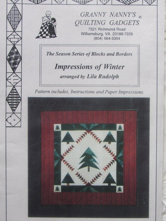 Impressions of Winter/Quilt Pattern by Granny Nanny's : quilting gadgets - Adamdwight.com