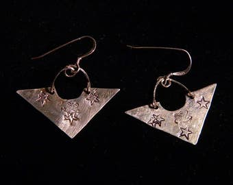 Designer Sterling Silver Earrings with Custom Sterling Silver Ear Wires, DE37