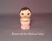 Reserved for Melissa Salse Child Kokeshi Doll