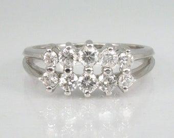 Vintage Estate Diamond Wedding Ring
