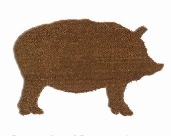 LARGE PIG doormat outdoor welcome all weather bison animal