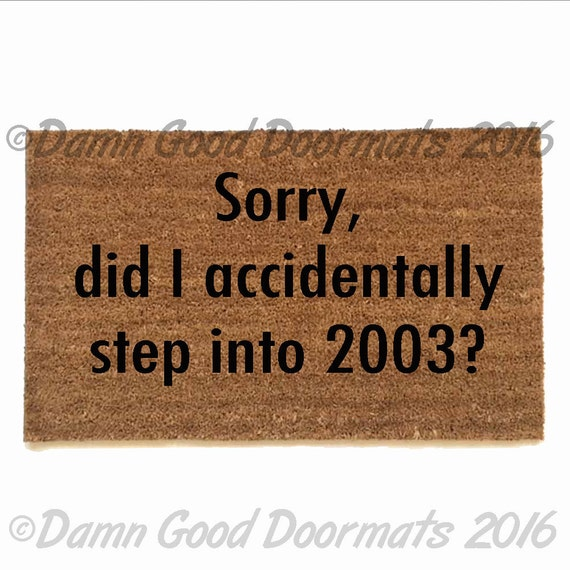 Items similar to 2003 funny rude gilmore girls doormat on etsy - Offensive doormats ...