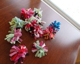 Pet toy, Fleece Ball, Fleece Pom Poms, Fleece Pet Toy, Fleece Toy, Pom Pom Toy, Hedgehog Toy, Guinea Pig Toy, Cat Toy, set of Two
