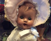 Very vintage old needs major loving doll as is note pictures era 1935-1950s