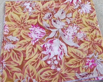 SILKY SOFT COTTON Batisite Bandana Oversized Caramel Pink Tulips Lily of the Valley Women Chemo Biker Summer Bandana Durag