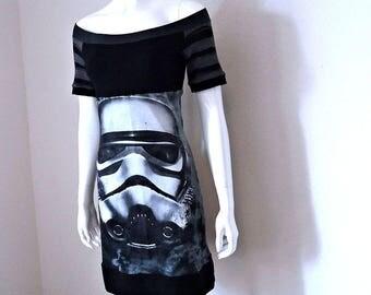 Storm Trooper • Off Shoulder • Tunic Summer Dress • Small / Medium • Star Wars