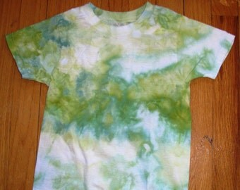 T-SHIRT CHILD SMALL 4T-5T Tiedye Yellow Green White