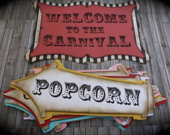 Vintage CARNIVAL/CIRCUS  Signs
