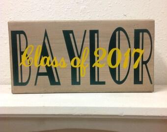 Baylor class of 2017 shelf sitter, sign