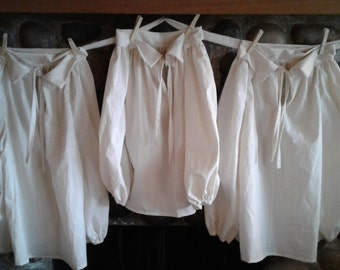 Boys Colonial Pioneer Civil War Shirt Pirate or Choice of Nightshirt