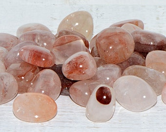 Strawberry Quartz Tumbled Gemstone - Stone for Uncovering Hidden Information