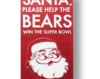 Chicago Bears christmas sign - 6 x10.5