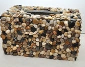 Custom Order for K - Mosaic Style Pebble Tissue Box Cover