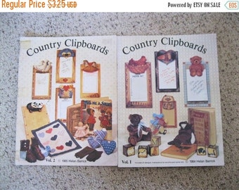 SALE NOW ON Ends 2/27/16 Country Clipboards Vol. 1 and 2 Books Tole Painting Patterns & Insructions Book 1984 85