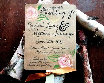 wedding program fans rustic wedding program fan country wedding programs fan style wedding programs