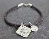 My Story Isn't Over Yet Semicolon Frolic Braided Leather Bracelet