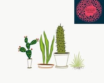 Cactus Trio Digital Print