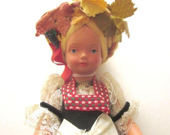 Vintage Blonde European Doll with Lace