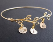 Mothers Day From Daughter, Son, Family Tree Bracelet, Personalized Mom Jewelry
