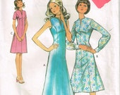 70s Dress Pattern Style 3402 Size 12 Bust 34 Panelled Dress With Front Slit Ankle or Knee Length Dress Vintage 1971 Sewing Pattern