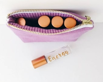 Ity-Bity Zipper Pouch - Berry - mini change pouch essential oil bag coin purse Zip Wallet Money Wallet Change Purse Gift Card Holder