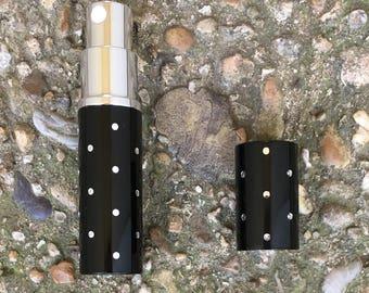 Decant perfume supply,  Refillable perfume atomizer,  Fragrance Travel Sprayer - metal case atomizer, glass bottle, fine mist sprayer