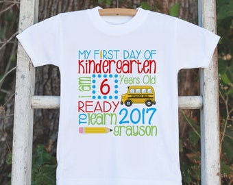 Kindergarten Shirt - First Day of School Shirt - Boys School Stat 1st Day of Kindergarten Shirt - Back to School - First Day of School Shirt