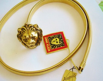 Anne Klein Panther Cat Animal  Belt Large  Gold Tone Accessocraft