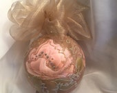 Hand Painted Roses, Christmas Ornament by MontanaRosePainter, Item # 384........SALE 12.00...WAS 15.00