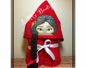 Elena of Avalor Hooded Bath Towel,  Latina princess Pool Towel, Hooded Towel,kids bath towel, Kids beach towel, Kids personalized towel gift