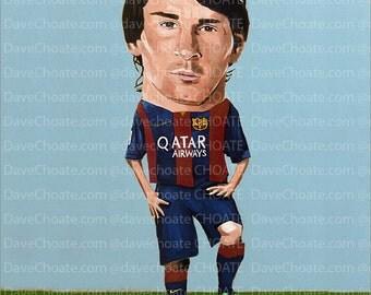 Lionel Messi, FC Barcelona  Art Photo Print