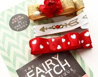 valentine hair clip, valentines hair bows, baby hair clips, toddler hair clips, baby shower gift, kids gift, hair accesories, Valentines day