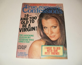 Vintage True Romantic Confessions Magazine July 1975 - Campy  Spicy Stories - Hair Styles Paper Ephemera Retro 1970s