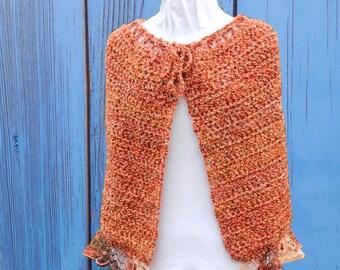 Crochet Pattern, Patterns for Sashay Yarn, Ruffle Edge Wrap Pattern, Pattern for Ruffle Yarn, Homespun Yarn Pattern, Crocheted Cape Pattern