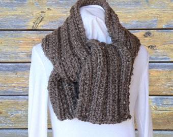 Chunky Knit Scarf Pattern, Knitting Pattern for Chunky Scarf, Ribbed Knit Scarf Design, Super Bulky Knitted Scarf, Bulky Yarn Pattern