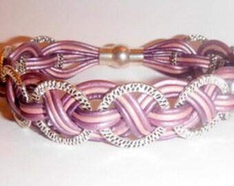 Leather Weave Bracelet Kit- Purple Delight