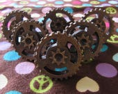 Set of Six Steam Punk Style Gear Drawer Pulls/Knobs