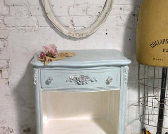 Painted Cottage Chic Shabby Romantic French Night Table NT903