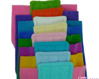 9 TERRY & TERRY Swiffer mop pads, Reusable Swiffer mopping pads, Washable Swiffer Sweeper mop Pads EcoGreen Pads. Both Sides are Terry Cloth