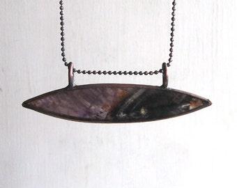 Quartz Amethyst Necklace Agate Copper Jewelry Crystal Gemstone Stone Pendant Artisan Midwest Alchemy
