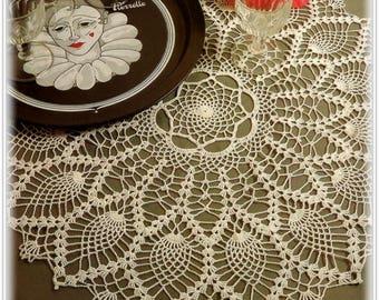 Crochet Pineapple Doily Pattern - Large 22 Inch Centerpiece Doily - Pattern CR556710